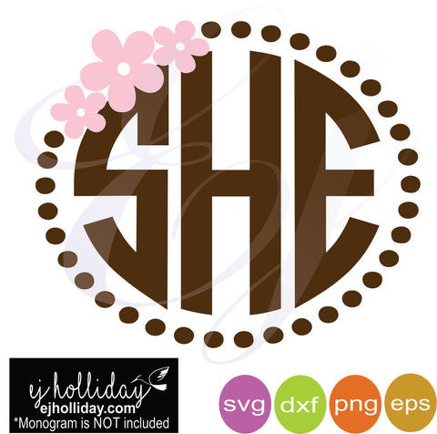 Cherry blossom and pearls frame svg dxf eps png Vector Graphic Design Digital Cutting File Instant Download Cameo Silhouette Cricut