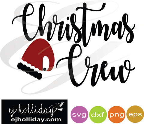 Christmas Crew svg dxf eps png Vector Graphic Design Digital Cutting File Instant Download Cameo Silhouette Cricut