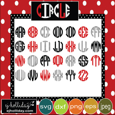 Circle Letter Set svg eps jpeg jpg png dxf Graphic Design Digital Cutting File Instant Download Cameo Silhouette Cricut