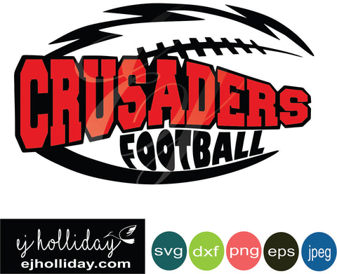 Crusaders Football Layered Knockout svg dxf eps png jpeg jpg Vector Graphic Design Digital Cutting File Instant Download Cameo Silhouette Cricut