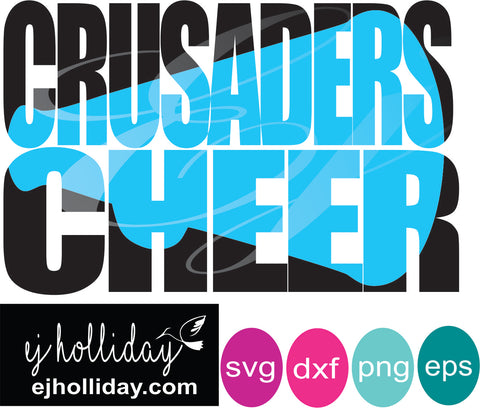 Crusaders Cheer knockout design SVG EPS DXF JPG JPEG VECTOR Graphic Design Digital Cutting File Instant Download Cameo Silhouette Cricut