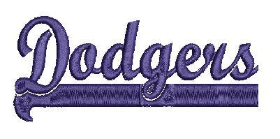 DODGERS SWISH Machine Embroidery Design 4X4 5X7