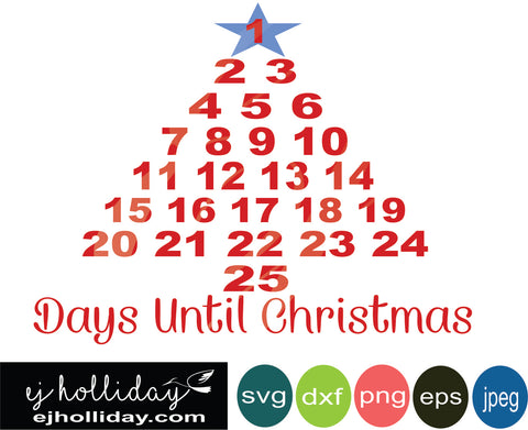 Days Until Christmas Svg Free.Christmas Designs Ej Holliday Southern Legend