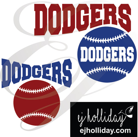 Dodgers baseball SVG EPS DXF PNG VECTOR Graphic Design Digital Cutting File Instant Download Cameo Silhouette Cricut