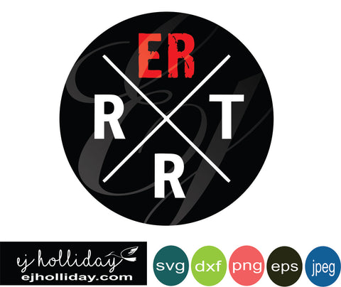 ER RRT 18 svg eps dxf png jpeg jpg VECTOR Graphic Design Digital Cutting File Instant Download Cameo Silhouette Cricut