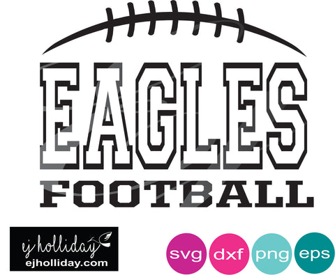 Eagles Football DC svg dxf eps png Vector Graphic Design Digital Cutting File Instant Download Cameo Silhouette Cricut