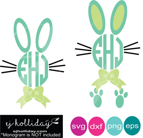 Easter Boy Bunnies SVG EPS DXF PNG VECTOR Graphic Design Digital Cutting File Instant Download Cameo Silhouette Cricut