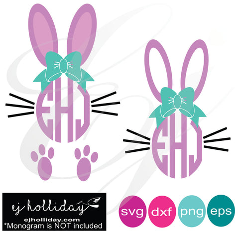 Easter Girl Bunnies SVG EPS DXF PNG VECTOR Graphic Design Digital Cutting File Instant Download Cameo Silhouette Cricut