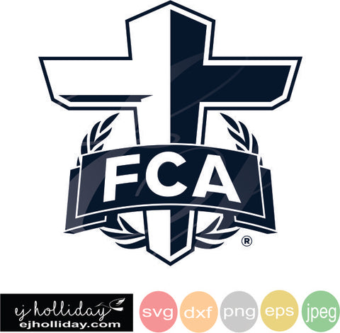 FCA Logo SVG EPS DXF JPG JPEG VECTOR Graphic Design Digital Cutting File Instant Download Cameo Silhouette Cricut