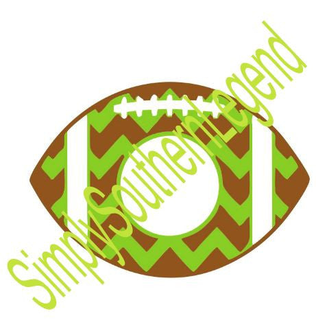 Football Chevron Monogram Instant Download Silhouette Cricut SVG DXF