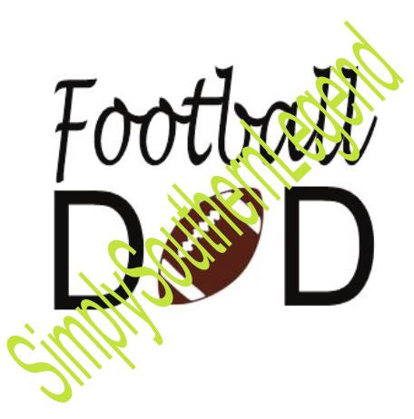 FOOTBALL DAD Vinyl Design