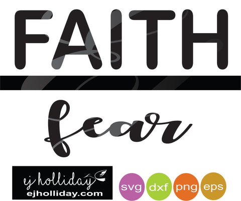 Faith Fear DC svg dxf eps png Vector Graphic Design Digital Cutting File Instant Download Cameo Silhouette Cricut