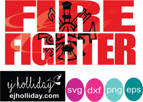 Fire fighter knockout svg dxf eps png Vector Graphic Design Digital Cutting File Instant Download Cameo Silhouette Cricut