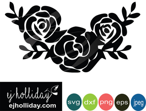 Flowers svg eps jpeg jpg png dxf Graphic Design Digital Cutting File Instant Download Cameo Silhouette Cricut