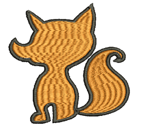 Fox Machine Embroidery Design 5X7 6X10