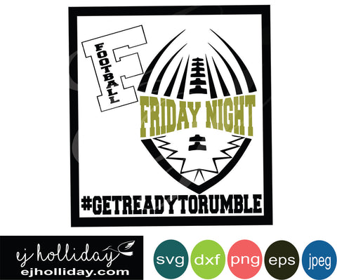 Friday Night Football svg eps jpeg jpg png dxf Graphic Design Digital Cutting File Instant Download Cameo Silhouette Cricut