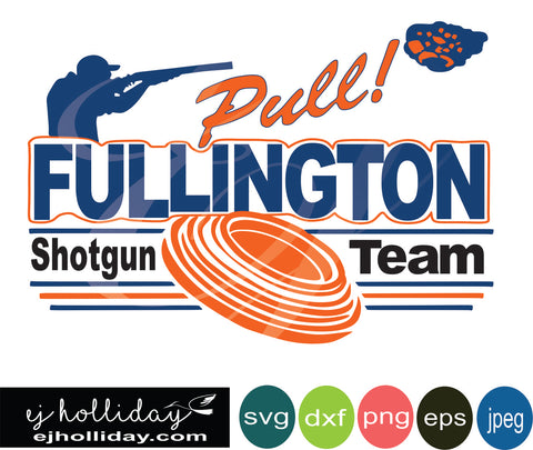 Fullington Shotgun Team 18 svg dxf eps png Vector Graphic Design Digital Cutting File Instant Download Cameo Silhouette Cricut