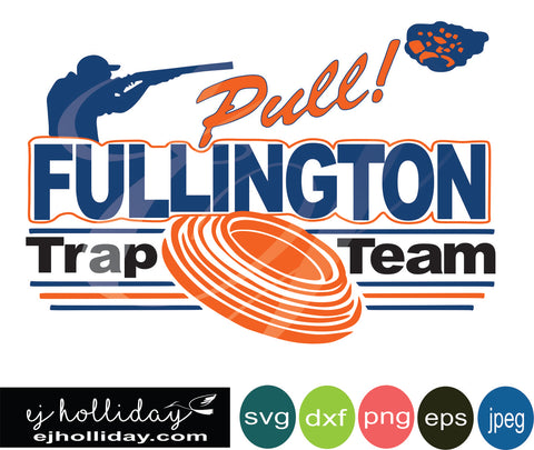 Fullington Trap Team 18 svg dxf eps png Vector Graphic Design Digital Cutting File Instant Download Cameo Silhouette Cricut