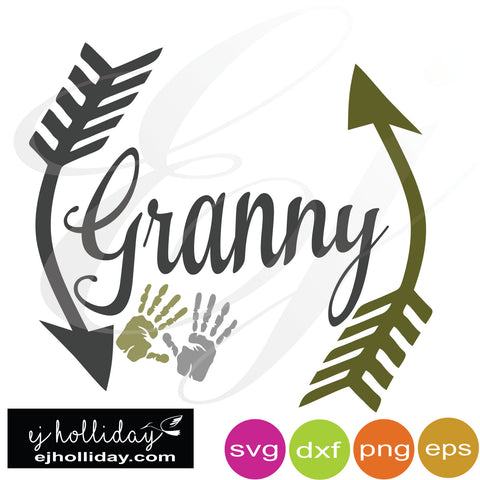 Granny with hands SVG EPS DXF PNG VECTOR Graphic Design Digital Cutting File Instant Download Cameo Silhouette Cricut