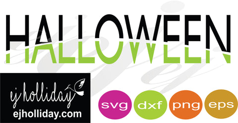 Halloween Split Design SVG EPS DXF PNG VECTOR Graphic Design Digital Cutting File Instant Download Cameo Silhouette Cricut