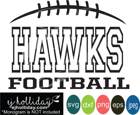 Hawks Football Split Design svg eps jpeg jpg png dxf Graphic Design Digital Cutting File Instant Download Cameo Silhouette Cricut