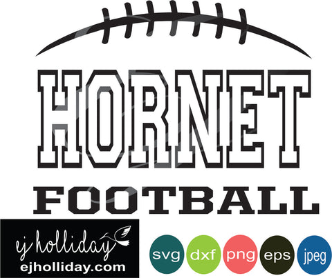 Hornet Football svg eps jpeg jpg png dxf Graphic Design Digital Cutting File Instant Download Cameo Silhouette Cricut