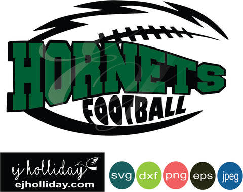 Hornets Football layered knockout svg dxf eps png jpeg jpg Vector Graphic Design Digital Cutting File Instant Download Cameo Silhouette Cricut