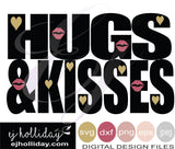 Hugs and Kisses 19 svg eps png dxf jpg jpeg vector Graphic Design Digital Cutting File Instant Download Cameo Silhouette Cricut