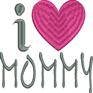 I Heart Mommy Embroidery Design