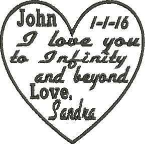 I love you to infinity and beyond Love Embroidery Design CUSTOM ORDER