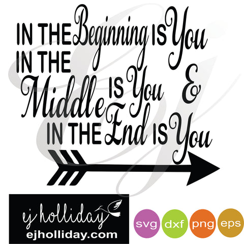 In the beginning SVG EPS DXF PNG VECTOR Graphic Design Digital Cutting File Instant Download Cameo Silhouette Cricut