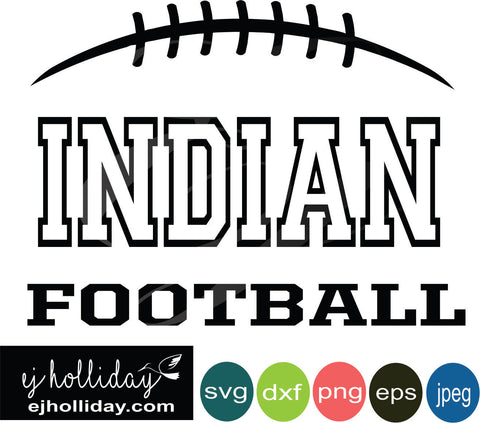 Indian Football Split Design svg eps jpeg jpg png dxf Graphic Design Digital Cutting File Instant Download Cameo Silhouette Cricut