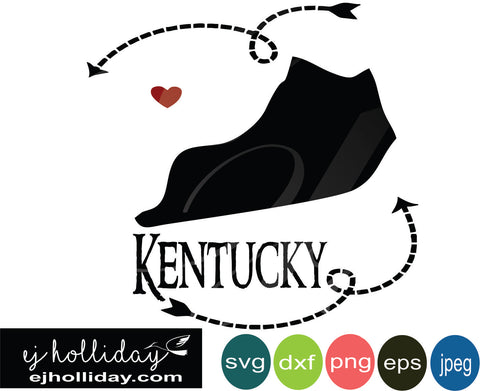 Kentucky silhouette heart arrows 18 svg eps png dxf jpeg jpg vector Graphic Design Digital Cutting File Instant Download Cameo Silhouette Cricut