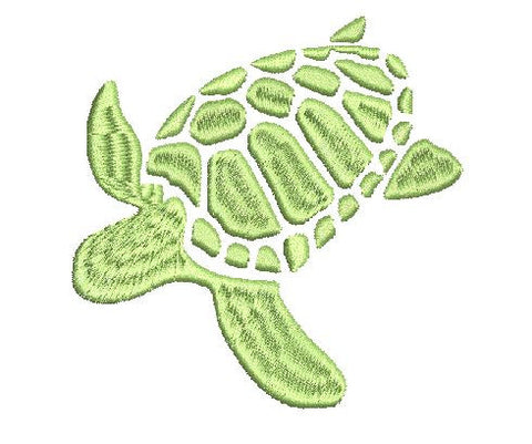 Loggerhead Turtle Machine Embroidery Design 4X4