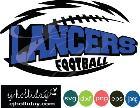 Lancers Football Layered Knockout svg eps jpeg jpg png dxf Graphic Design Digital Cutting File Instant Download Cameo Silhouette Cricut