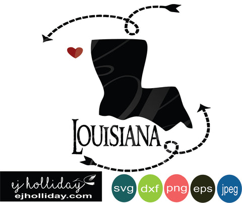 Louisiana silhouette heart arrows 18 svg eps png dxf jpeg jpg vector Graphic Design Digital Cutting File Instant Download Cameo Silhouette Cricut