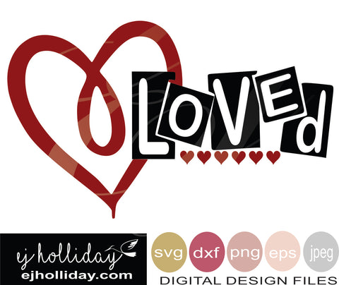 Loved 19 svg eps png dxf jpg jpeg vector Graphic Design Digital Cutting File Instant Download Cameo Silhouette Cricut