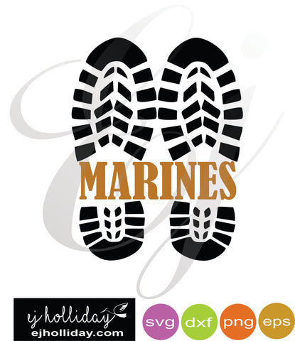 Marine Combat Boots svg dxf eps png VECTOR Graphic Design Digital Cutting File Instant Download Cameo Silhouette Cricut