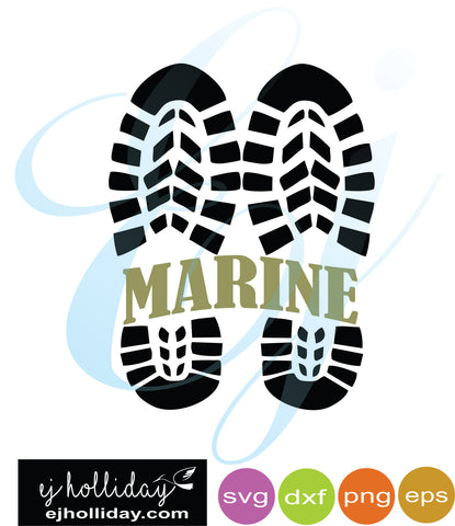 Marine Combat Boots split design svg dxf eps png VECTOR Graphic Design Digital Cutting File Instant Download Cameo Silhouette Cricut