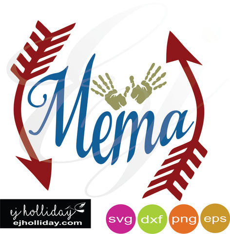 Mema with hands SVG EPS DXF PNG VECTOR Graphic Design Digital Cutting File Instant Download Cameo Silhouette Cricut