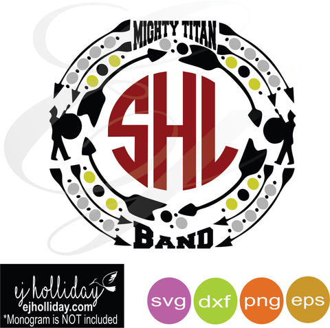 Mighty Titan Band SVG EPS DXF PNG VECTOR Graphic Design Digital Cutting File Instant Download Cameo Silhouette Cricut
