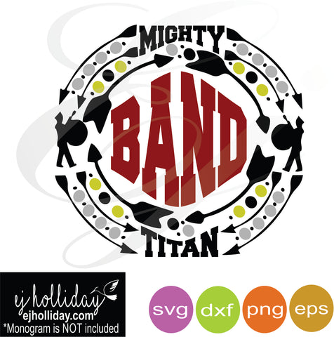 Mighty Titan SVG Band in middle SVG EPS DXF PNG VECTOR Graphic Design Digital Cutting File Instant Download Cameo Silhouette Cricut