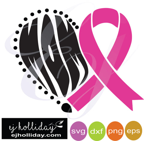Mom Breast Cancer Ribbon Heart Svg Dxf Eps Png Vector Graphic Design D Ej Holliday Southern Legend
