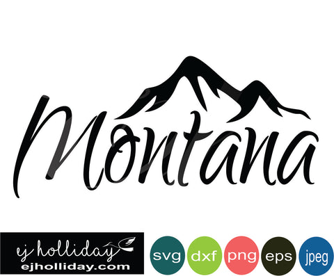 Montana mountain 18 svg eps png dxf jpeg jpg vector Graphic Design Digital Cutting File Instant Download Cameo Silhouette Cricut