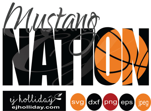 Mustang basketball knockout 19 svg eps png dxf jpeg jpg vector Graphic Design Digital Cutting File Instant Download Cameo Silhouette Cricut