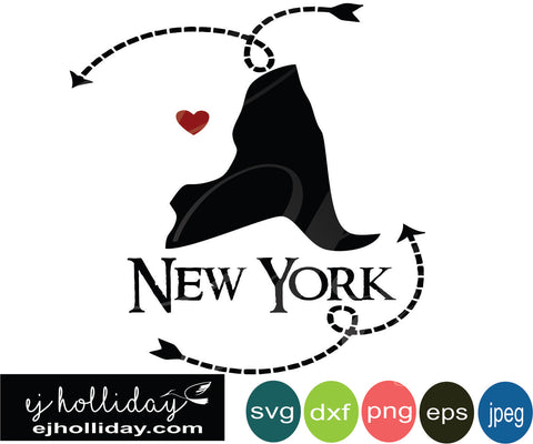 New York silhouette heart arrows 19 svg eps png dxf jpeg jpg vector Graphic Design Digital Cutting File Instant Download Cameo Silhouette Cricut