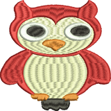 OWL Embroidery Design 4X4