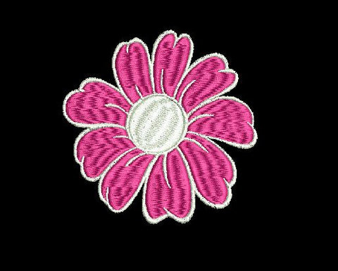 Flower Machine Embroidery Design 4X4
