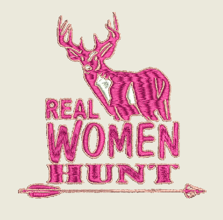 Real Women Hunt Machine Embroidery Design  5X7