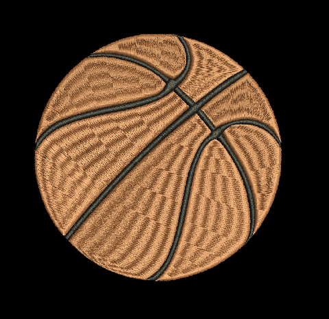 BASKETBALL Machine Embroidery Design 5X7